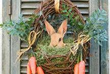 Holidays: Easter decoration / easter, украшения, праздничный стол, кролики