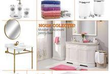 Mobilier Baie / Noua colecție de mobilier și accesorii pentru baie.