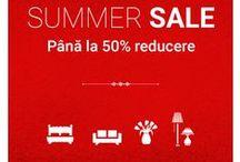 Summer Sale 2016 - Până la 50% Reducere / Au început Reducerile de vară! Înainte să pleci în vacanță, amenajează-ți colțul de relaxare de acasă.