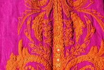 International/Ethnic fabrics patterns / I just love love love the brilliant colors of safron, red, blue, orange!!  Just beautiful and magical.