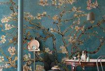 Wandgestaltung / Wallpaper / Wunderschöne Tapeten und Wandgestaltung. Mit Blumen, Farben und Bildern, ob bunt oder eintönig - es ist bestimmt für jeden eine Inspiration dabei
