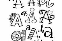 Handletteren alfabet
