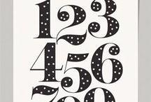Handletteren cijfers