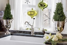 Holiday Home Decor / Inspiration for decorating the two most used rooms in your home - the kitchen and the bath!