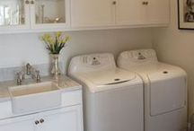 Laundry Rooms We Love / Laundry Room designs that we LOVE featuring our favorite kind of fixtures.