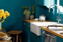 Beautiful Blue / Kick the BLUES to the curb with this cool new kitchen trend!