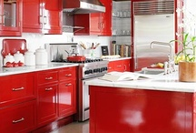 Radiant Red / Get some design inspiration with these red hot kitchens and bathrooms!