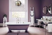 Pretty in Purple / Lavish and regal, purple rooms are a bold choice for any home.