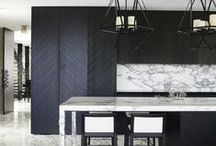 Day and Night / High contrast design inspiration for the kitchen and bath