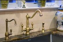 Brilliant Brass / Brass, bronze, and copper are all on the rise in both the kitchen and the bath for their charming and homey allure. Think of these metals as a statement piece for your kitchen.