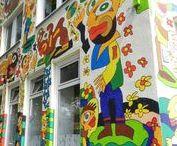 Michael Fischer-Art Hannover Vahrenwald Street Art Immobilien / 2007 übernahm Michael Fischer-Art die Gestaltung der Fassade dieses Eckhauses in Hannover Vahrenwald List und machte es dadurch zu einem echten Highlight. Street Art Immobilien- aufgenommen und gepinnt vom Makler und Hausverwalter in Hannover: arthax-immobilien.de