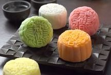 Mooncake Festival / Mid-Autumn festival 中秋節 with lots of differrent kinds of delicious mooncakes 月餅