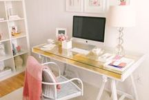 Heavenly home offices / Gorgeous inspiration for creating little workspaces and offices in the home and cute craft spaces. #homeoffices #workspaces #design #craft #interiordesign #decor #desks #furniture