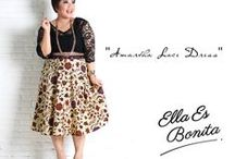 2014 - Dress / Dress which specially designed for sophisticated curvy women originally made by Indonesian Designer & Local Brand: Ella Es Bonita.