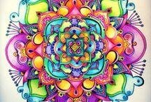 Explosión de colores....Mandalas!! <3
