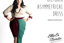 2015 - Victoria Asymmetrical Dress / Dress which specially designed for sophisticated curvy women originally made by Indonesian Designer & Local Brand: Ella Es Bonita.