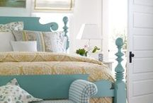 Yellow, teal and grey bedroom design inspiration / Mr H and I need to decorate our bedroom. Our walls are already a sage green colour and I love it. I would like to add greys, pale yellow, white and some black. This board is full of inspiration for our bedroom. #bedroom #design #interiordesign #decoration #furniture #teal #yellow #grey