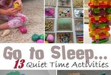 Quiet activities for babies and toddlers / Calming, relaxing and peaceful activities for babies and toddlers. Ideal to do on the run up to bedtime.