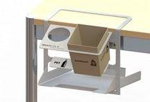 Tischabfall Office / Abfalltrennen beginnt doch am Arbeitsplatz, daher haben wir uns entschieden ein Produkt zu bauen welches an jede beliebige Tischkannte angehängt werden kann.