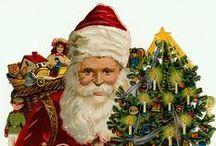Vintage Santas / Vintage Santas. Victorian, Gay Nineties, Edwardian Christmas.