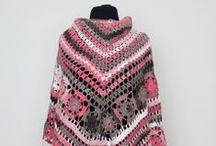 Shawl / knit yarn shawl
