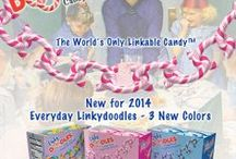 Pink, Blue and Rainbow / New Linkydoodle colors! Great for everyday crafts!