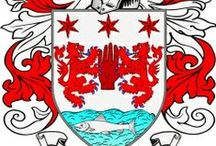 Heraldry / Coat of Arms, Crest, Shields, Badges and Mottos of our founding families.