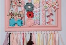 A Hair Affair: Organized / Ideas to organize hair accessories / by Tina Platter