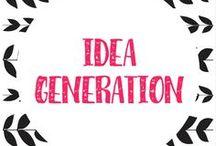 ideas + inspiration