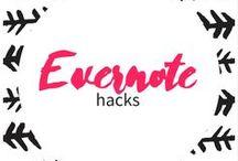 evernote hacks / productivity - workflow - planning - to do list - streamlining - organization - work smarter