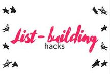 list building hacks / email marketing - mailing list - marketing - campaign - list building - newsletter - sign up - landing page - audience - followers - emailer