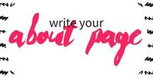write your about page / Tips for creating your website about page