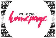 write your home page / Tips for creating your homepage or start with me page