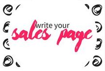 write your sales page / Tips for creating a sales page that converts