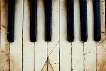 """EbOnY & iVoRy / """"Ebony and ivory live together in perfect harmony, side by side on my piano keyboard, O Lord, why don't we?""""    -Paul McCartney / by CarolLynn Gregson"""
