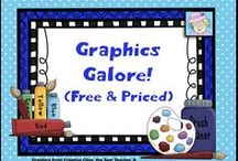 Graphics Galore! / Here, you'll find a treasure trove of clip art, lots of FREE sets and some for sale!