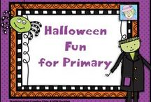Halloween Fun for Primary / This board is filled with Halloween-themed math, reading, decorations, games, and great ideas!   If you pin to this board, please pin one free item or great idea for every priced item.  Thanks!