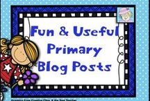 Fun & Useful Primary Blog Posts / This is a collaborative board.  The pins link directly to great blog posts of interest to the PreK-2 crowd!   Pinners:  Please add no more than 2-3 pins to this board per day.