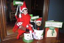 Elf on a Shelf 2013 Jingle and snowflake  / Photos of our mischievous elves Jingle and Snowflake.