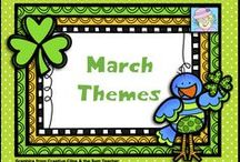 "March Themes / March is full of great teaching themes~Reading Month, St. Patrick's Day, and more!  This board is for great March resources.  If you pin to this board, please keep a nice balance of free and priced items.  Be sure to clearly mark items as ""FREE"" or $  priced."