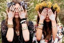 Hippie Style / Inspirational board for hippie inspired fashion, jewelry, accessories, makeup and hairstyles. Flowerchild, bohemian, free people, festival, flowerpower