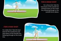 The Golf Swing Path / Understanding how to control your golf swing path is something that separates the high handicappers from the better players. As well as controlling your clubface angle you need to control your swing path in order to hit straighter golf shots and eliminate the slice or hook. Golf lessons are a must but golf training aids are great too.