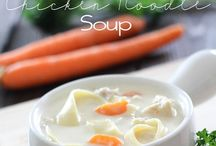 Soup/Comfort Food / nothing warms you up like a hot bowl of yummy soup....add in some garlic toast, buttered bread or crackers and you're set!