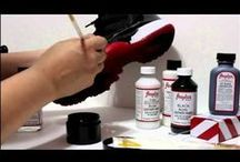 How To Customize Shoes / Links tips and ideas of how to customize your own shoes. #DIY #DOITYOURSELF #CUSTOMIZING #ART / by PaintOrThread.com