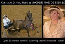 Carriage Driving Hats for Sale by MAGGIE MAE DESIGNS® / A collection of elegant carriage driving hats created specifically for ladies who participate in carriage driving events and are looking for stylish hats to wear during competition.