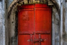 "Doorways and more ways... / I love doors, doorways, passages, stairwells, they seem to say ""Possibilities"" to me!"