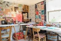 Studio Spaces / A  place to save ideas for great home studio space!