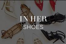 In Her Shoes / If the shoe fits, pin it. The most coveted booties, stilettos and wedges that will keep your feet a step ahead of the sartorial curve. / by INTERMIX