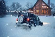 Daily Log Home Inspiration (Golden Eagle Log Homes) / Updated twice a day: A gallery of our custom log homes, timber frame homes, hybrid homes, and cabins.