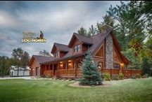 Lofted Log Home / This home is called the Lofted Log 1969AL. It blends classic/rustic design with modern amenities.  For information on how to get us involved with your new home, give us a call at 1-800-270-5025. If it's after hours, then enjoy our website at www.GoldenEagleLogHomes.com